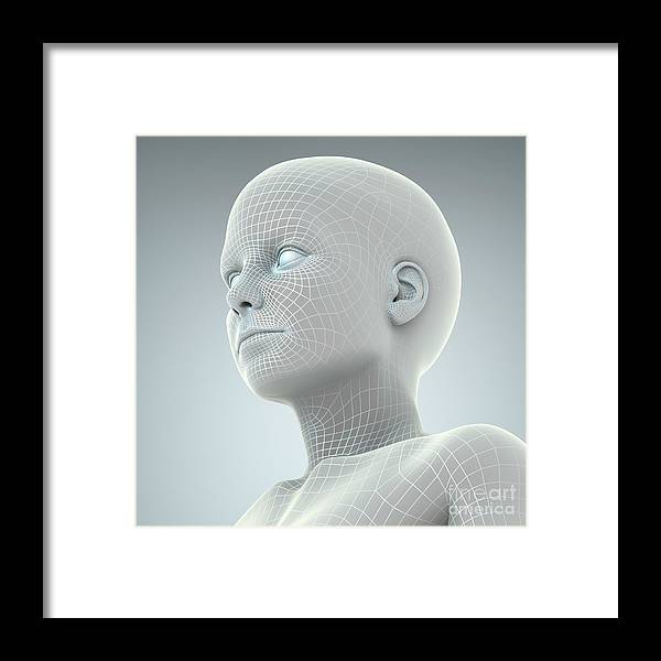 Artificial Intelligence Framed Print featuring the photograph Digital Being by Science Picture Co