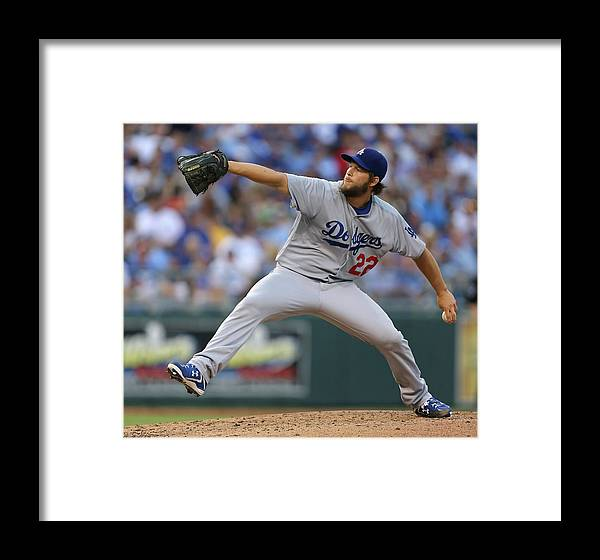People Framed Print featuring the photograph Los Angeles Dodgers V Kansas City Royals 7 by Ed Zurga