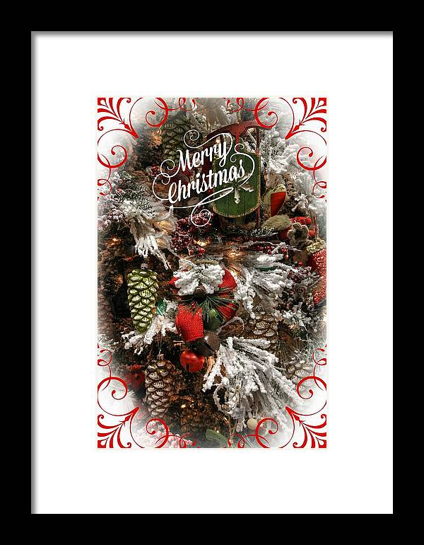 Christmas Cards Framed Print featuring the photograph Merry Christmas by Lisa Hurylovich