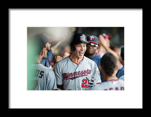 People Framed Print featuring the photograph Minnesota Twins V Cleveland Indians 7 by Jason Miller