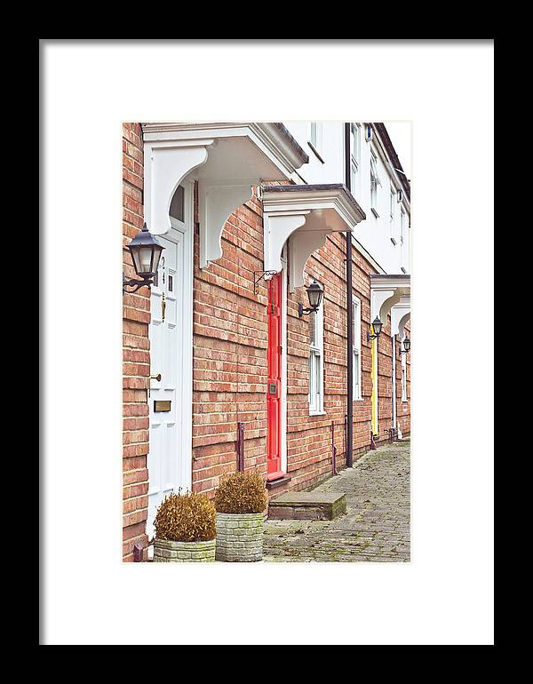 Architecture Framed Print featuring the photograph Modern Homes by Tom Gowanlock
