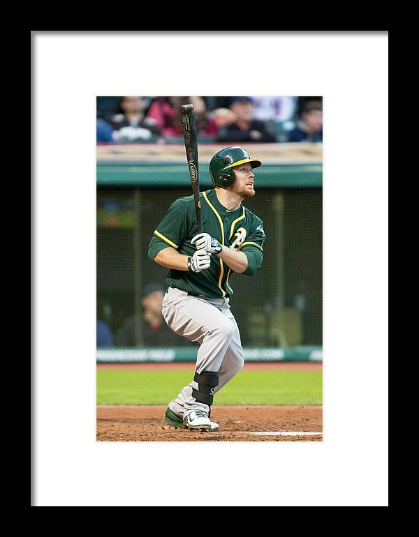 American League Baseball Framed Print featuring the photograph Oakland Athletics V Cleveland Indians 7 by Jason Miller