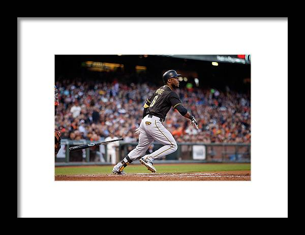 San Francisco Framed Print featuring the photograph Pittsburgh Pirates V San Francisco 7 by Ezra Shaw