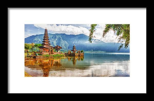 Pura Framed Print featuring the photograph Pura Ulun Danu by MotHaiBaPhoto Prints
