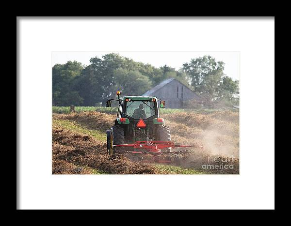 Mccombie Framed Print featuring the painting Raking Hay by J McCombie