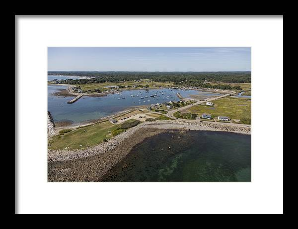 America Framed Print featuring the photograph Rye Beach, New Hampshire Nh by Dave Cleaveland