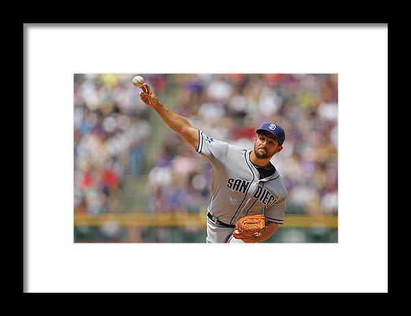 Home Base Framed Print featuring the photograph San Diego Padres V Colorado Rockies by Justin Edmonds