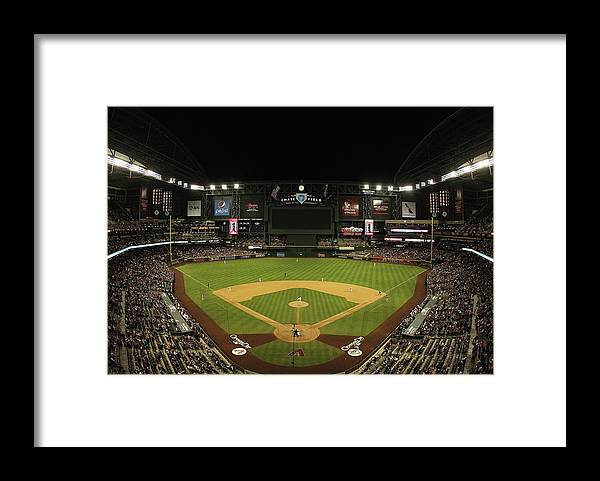 Motion Framed Print featuring the photograph San Francisco Giants V Arizona by Christian Petersen