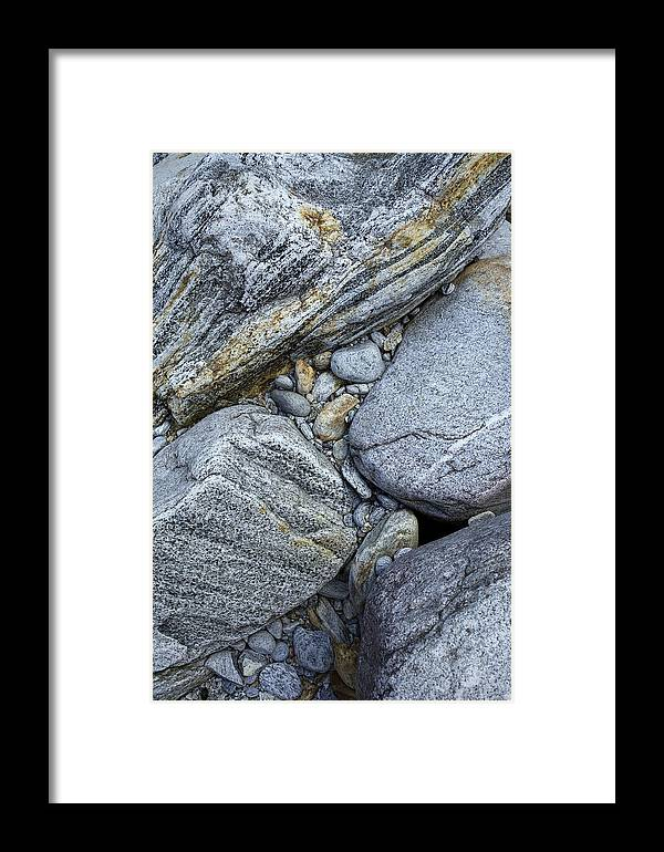 River Framed Print featuring the photograph Stones From Verzasca Valley by Radka Linkova