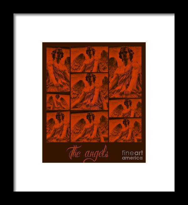 Meditation Framed Print featuring the digital art The Angels by Meiers Daniel