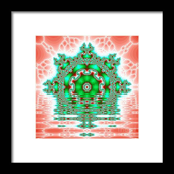 Fracta Framed Print featuring the digital art The Kaleidoscope Reflections by Odon Czintos