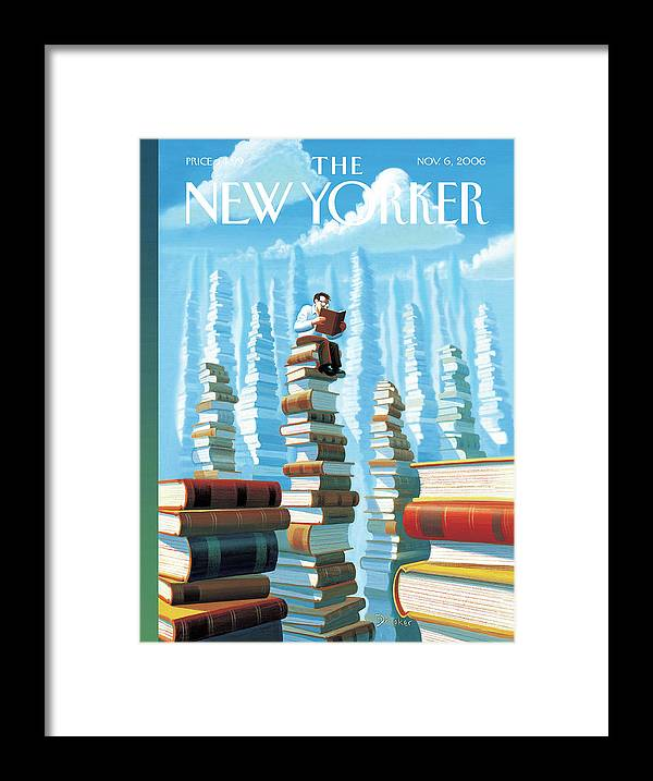 Books Framed Print featuring the painting Bookopolis by Eric Drooker