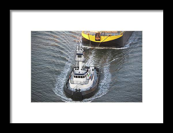 Freight Transportation Framed Print featuring the photograph Usa, New York State, New York City by Fotog