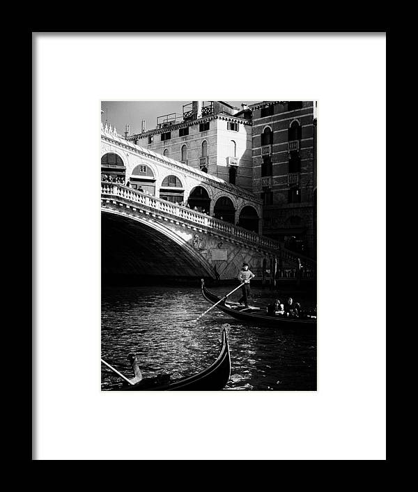 Venice - Italy Framed Print featuring the photograph Venetian Cityscape by Dobromir Dobrinov