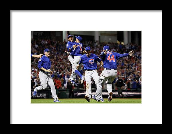 People Framed Print featuring the photograph World Series - Chicago Cubs V Cleveland 7 by Ezra Shaw