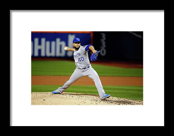 People Framed Print featuring the photograph World Series - Kansas City Royals V New 7 by Al Bello