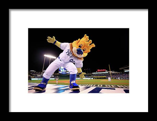 Game Two Framed Print featuring the photograph World Series - San Francisco Giants V by Jamie Squire