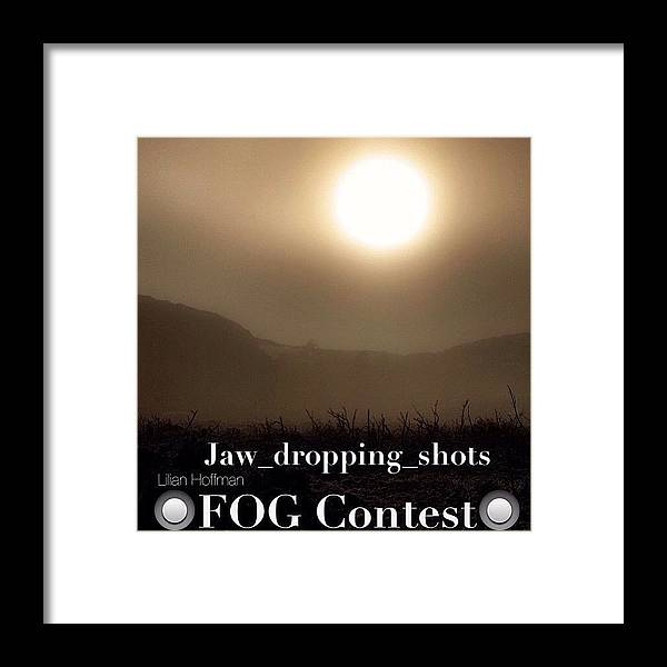 Jaw_dropping_shots Framed Print featuring the photograph Instagram Photo by Larry Marshall