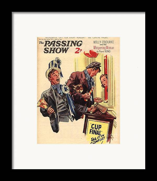 Football Framed Print featuring the drawing 1930s,uk,the Passing Show,magazine Cover by The Advertising Archives