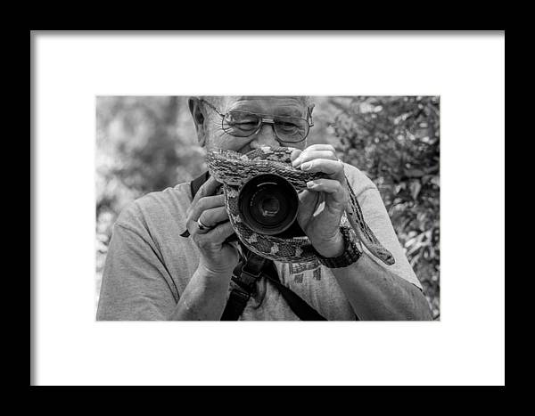 Reptiles Framed Print featuring the photograph Hiss by Marit Runyon