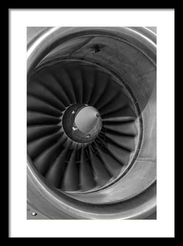 757 Engine Black and White by Ricky Barnard