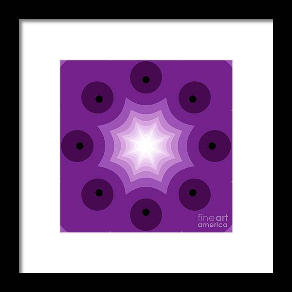 Abstract Framed Print featuring the digital art The Kaleidoscope by Odon Czintos