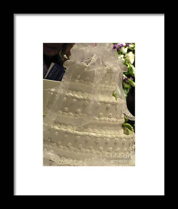 #775 D138 Cake All White.jpg Framed Print featuring the photograph #775 D138 Cake All White by Robin Lee Mccarthy Photography