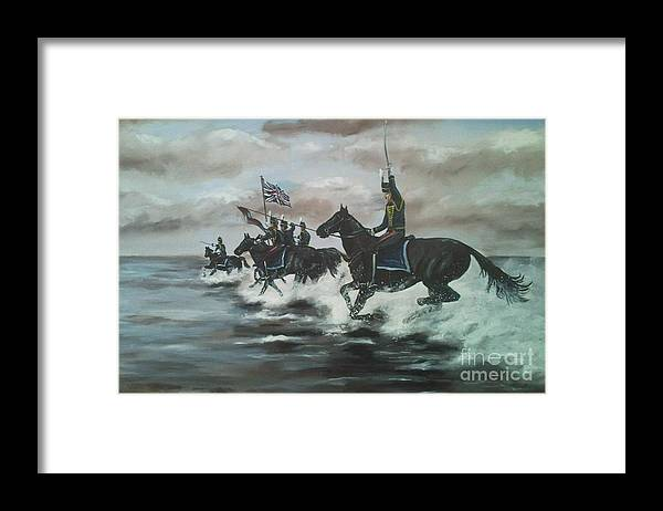 Horses Framed Print featuring the painting 7th Regiment Royal Horse Artillery by Richard John Holden RA