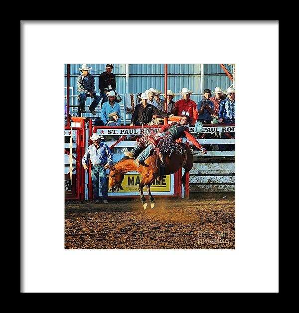 Bareback Framed Print featuring the photograph Bareback by Steven Baier