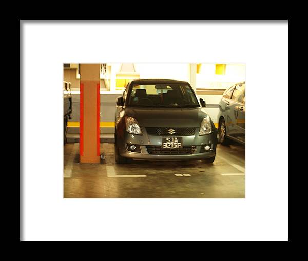 Photography Framed Print featuring the photograph Car Shape Faces by Tienny The