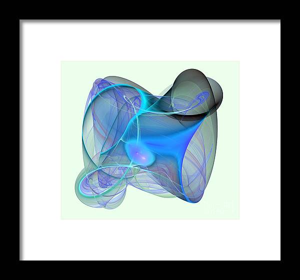 Connection Framed Print featuring the digital art Colorful Fractal Motives by Odon Czintos