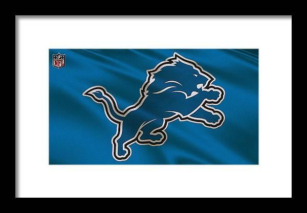 Lions Framed Print featuring the photograph Detroit Lions Uniform by Joe Hamilton
