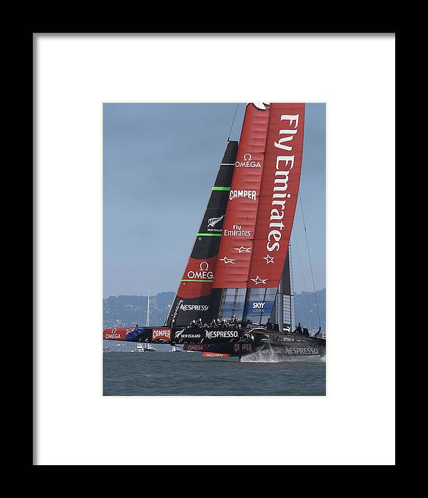 Emirates Framed Print featuring the photograph Emirates Team New Zealand by Steven Lapkin