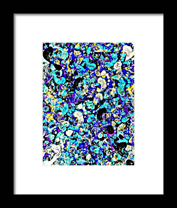 Art Framed Print featuring the painting Modern Abstract Painting Original Canvas Art Twister By Zee Clark by Zee Clark