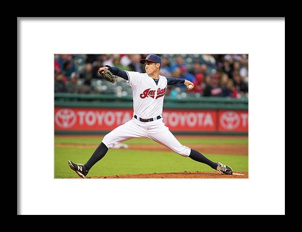 Second Inning Framed Print featuring the photograph Oakland Athletics V Cleveland Indians by Jason Miller