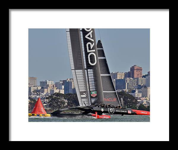 Oracle Framed Print featuring the photograph Oracle America's Cup by Steven Lapkin