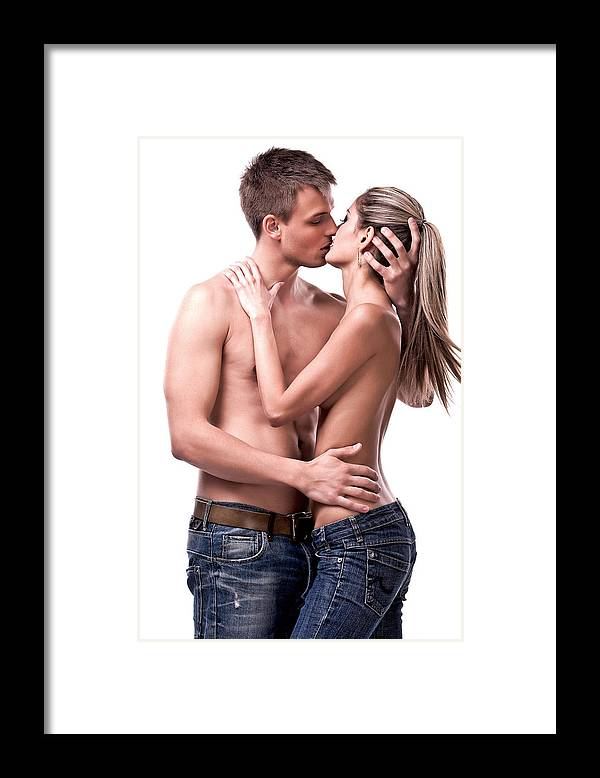 Heterosexual Couple Framed Print featuring the photograph Passionate Couple by Renzo79
