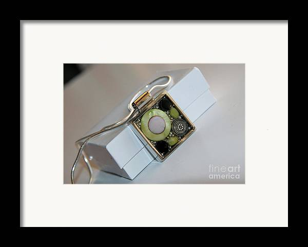 Framed Print featuring the jewelry Pendant by Afrodita Ellerman