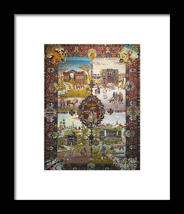 Persian Motifs Photos Framed Print featuring the photograph Photos Of Persian Antique Rugs Kilims Carpets by Persian Art
