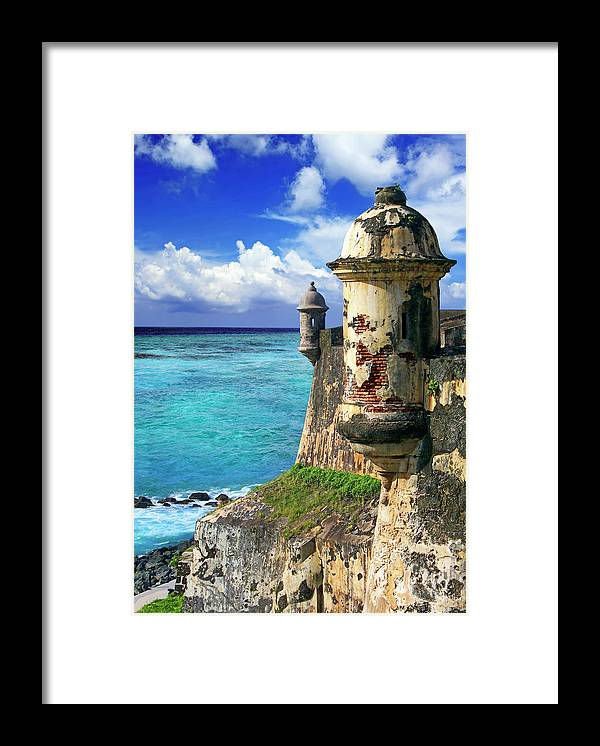 America Framed Print featuring the photograph Puerto Rico, San Juan, Fort San Felipe by Miva Stock