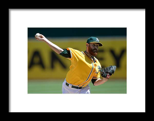 American League Baseball Framed Print featuring the photograph Seattle Mariners V Oakland Athletics 8 by Thearon W. Henderson