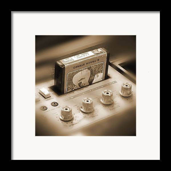 8-track Tape Player Framed Print featuring the photograph 8-track Tape Player by Mike McGlothlen