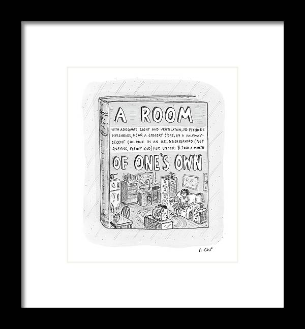 Book Framed Print featuring the drawing New Yorker March 26th, 2007 by Roz Chast