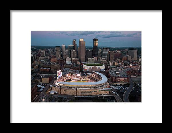All Star Game Framed Print featuring the photograph 85th Mlb All-star Game Aerials by Steven Bergerson