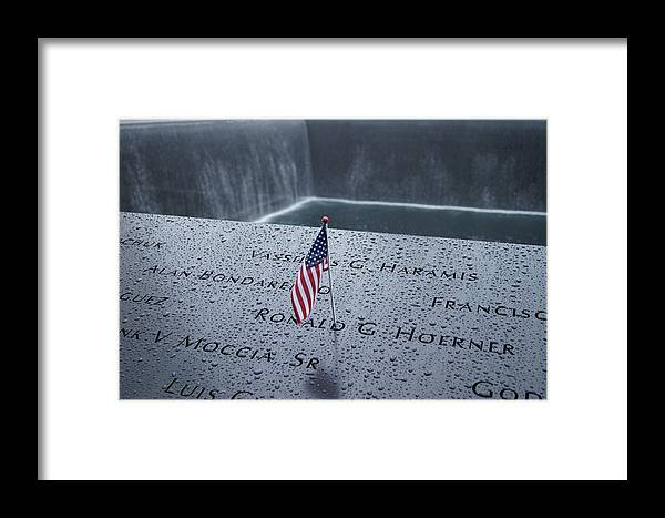 9/11 Memorial Framed Print featuring the photograph 9-11 Memorial by Deana Rae