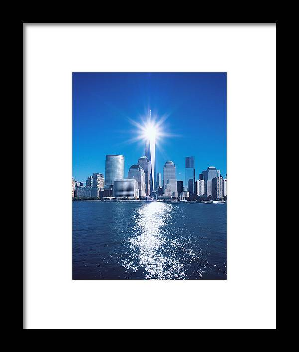 911 Framed Print featuring the photograph 9/11 Memorial by Lidia Sharapova