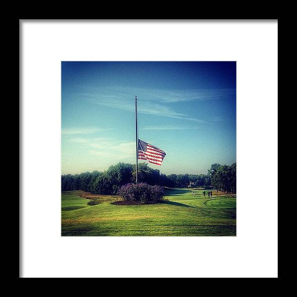 Igersoflouisiana Framed Print featuring the photograph 9-11 Never Forget by Scott Pellegrin