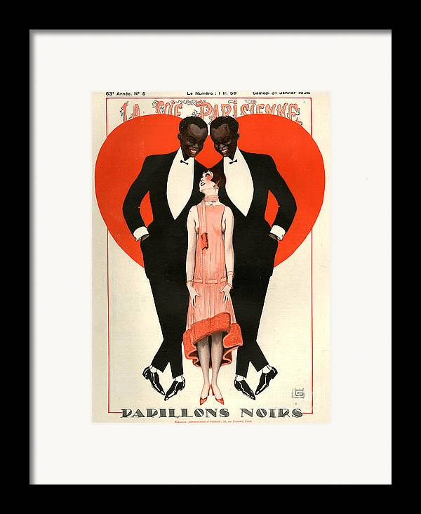 France Framed Print featuring the drawing 1920s France La Vie Parisienne Magazine by The Advertising Archives