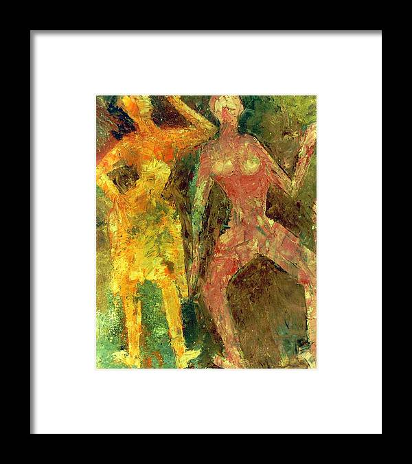 Oil On X-ray Film Framed Print featuring the painting Dance Dance Dance by Anand Swaroop Manchiraju