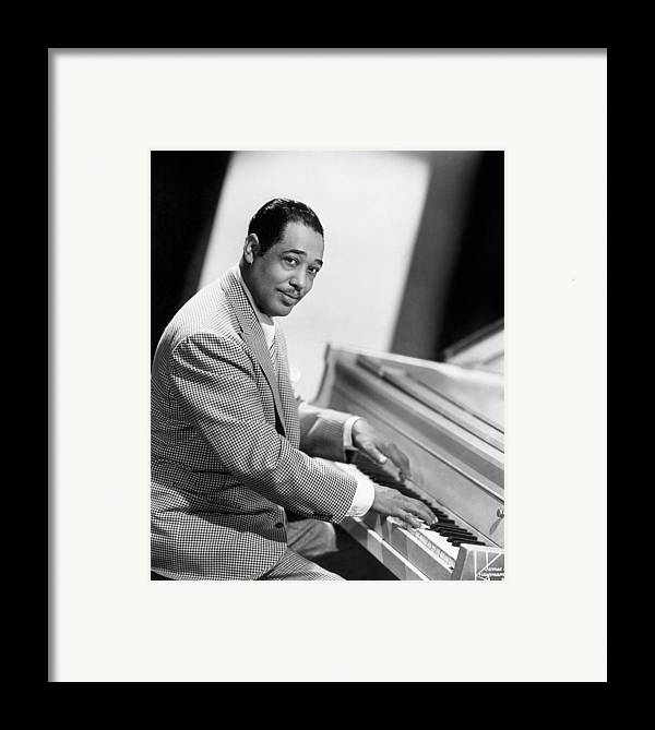 20th Century Framed Print featuring the photograph Duke Ellington (1899-1974) by Granger